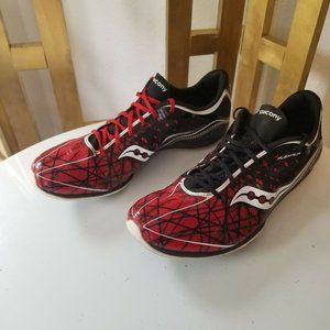 Saucony Shay XC3 Spike Men Shoe 9 Red Black Track